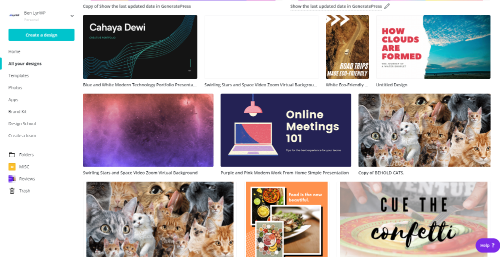 Designs for your blog images in Canva