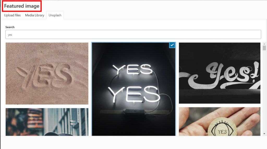 Yes it supports featured images